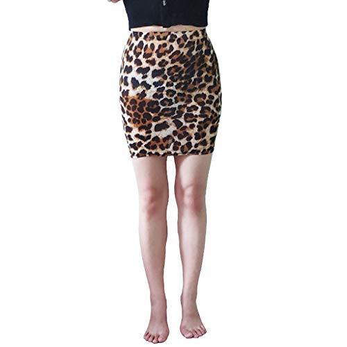 Sylar Minifalda Mujer Cintura Alta Faldas Cortas Mujer con Estampado de Leopardo Moda Falda Lapiz Mujer Slim fit Faldas de Tubo Mujer