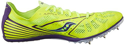 Saucony Women's Endorphin MD4 Track Spike Racing Shoe,Citron/Purple,10 M US Citron/Purple
