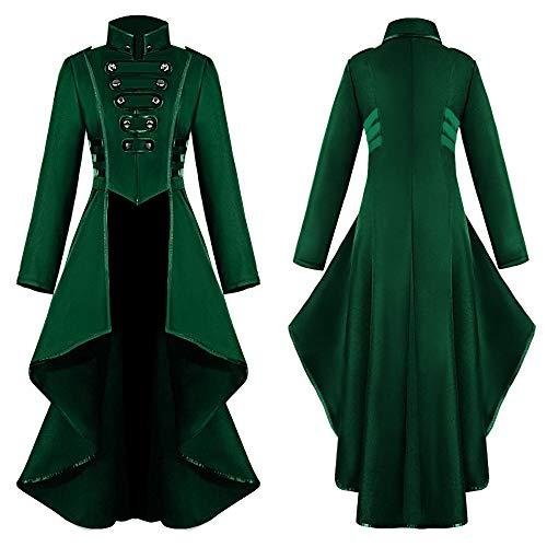 xue binghualoll Frauen Gothic Steampunk Button Lace Korsett Halloween Kostüm Mantel Frack Jacke Oberbekleidung Mantel Jacken Mantel Top Bluse (Shaggy Kostüm Hose)