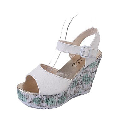 Scarpe Donna Donne Sandali Primavera Estate Autunno Club Shoes Pu Ufficio esterno e carriera casuale che cammina Qstream US6 / EU36 / UK4 / CN36