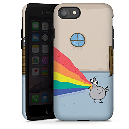 Apple iPhone X Silikon Hülle Case Schutzhülle DirtyWhitePaint Fanartikel Merchandise Zaubertaube Tough Case glänzend
