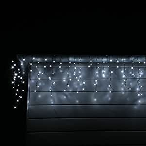 led eisregen lichterkette mit 400 kalt weissen leds. Black Bedroom Furniture Sets. Home Design Ideas