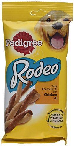 Pedigree Rodeo Dog Treats with Chicken 8 Stick - Pack of 12, Total 96 Treats