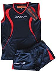 Givova Kit Vuelo Volley/blue Talla 2XS Rojo