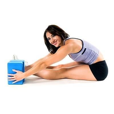 PhysioRoom Professioneller Yoga Block NEU x2 / Schaumgummi - 15x7x22.5 cm