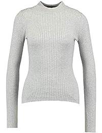Even Odd Damen Pullover in Rippenstruktur - Strickpullover mit Stehkragen -  Langarm Pulli - Klassisches Strickshirt mit 91a9262ae1