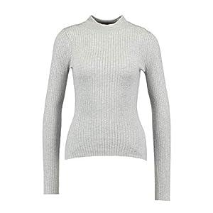 Even&Odd Damen Pullover in Rippenstruktur – Strickpullover mit Stehkragen – Langarm Pulli – Klassisches Strickshirt mit Viskose in RIPP Strick