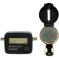 König SATFINDER-KIT Kit Puntatore Satellitare, Nero prezzi su tvhomecinemaprezzi.eu