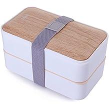 Caja para el almuerzo de Mercier, a prueba de goteo, con juego de cubiertos