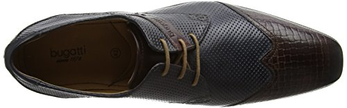 bugatti Herren 311189042121 Derby Braun (dark brown / dark blue 6141)