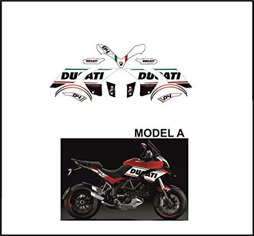 Emanuel & Co Kit adesivi Decal stikers Ducati MULTISTRADA 1200 2010 2012 Tribute Model A