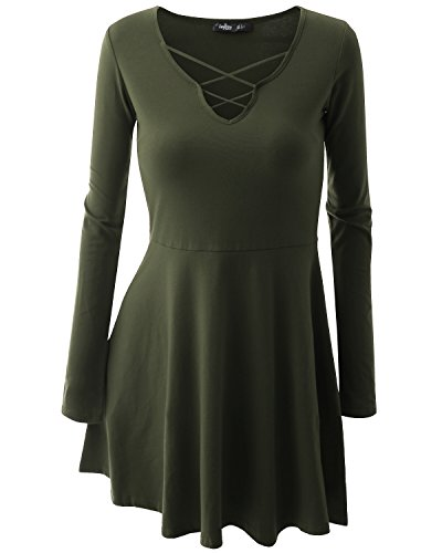 Romanstii - Robe - Femme vert militaire