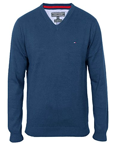 Tommy Hilfiger Herren Poloshirt Pacific V-Nk Blau (Midnight)