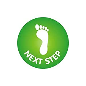 234 Next Step Footprint Stickers
