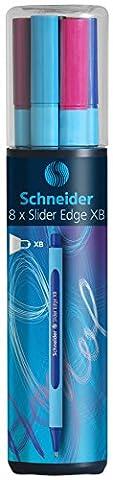 Schneider KS Slider Edge Box of 8 Colour Ballpoint Pens