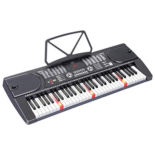 LIUFS Kinder Tastatur Smart Version 61 Tasten Multifunktions Intelligent Teaching Anfänger Musikinstrument Schließen Sie Das Headset Mikrofon Telefon Pad mit Zither (Headset-mikrofon Telefon Für)