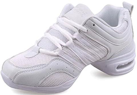 PPXID Femme Jazz Moderne Chaussure de Dancer-Blanc