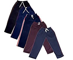 IndiWeaves Boys Premium 3 Cotton and 2 Warm Wollen Lower/Track Pants with 1 Zipper Pocket and 1 Open Pocket For Winter (Pack of -5)_Multiple_Size-14-15 Years