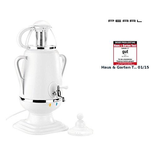 PEARL Samovar: Samowar Teebereiter mit Glas-Teekanne, 2200 Watt (Samawar)