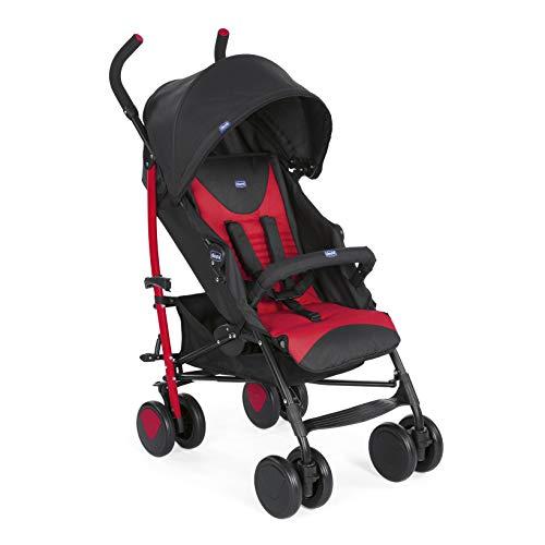 Chicco New Echo - Silla de paseo, ligera y compacta, color rojo, 7,6 kg