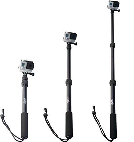 ActionSports Palo para GoPro PREMIUM de Aluminio Extensible Monopié, Telescópico y Waterproof para cámaras de acción GoPro 5, 4, 3+, 3, 2, 1 y cámaras alternativas.