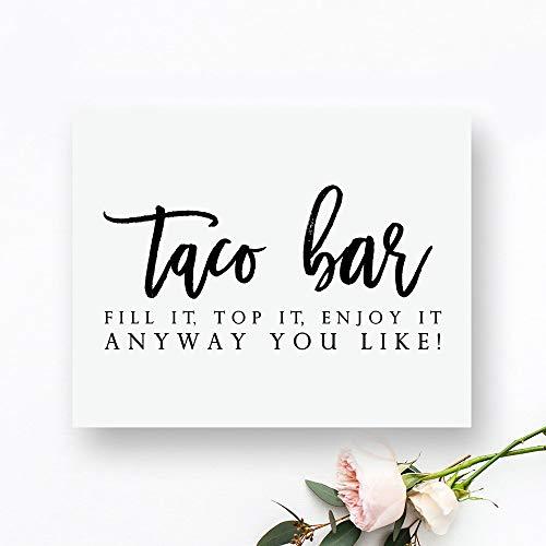 Druckbare Taco Bar Schild Taco Bar bedruckbar Taco Bar Hochzeit Schild Essen Zeichen Buffet Schilder Essen Tafel Schild Empfang Zeichen