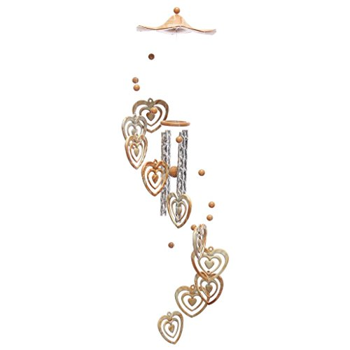 MagiDeal Wind Chime Home 4 Tubes...
