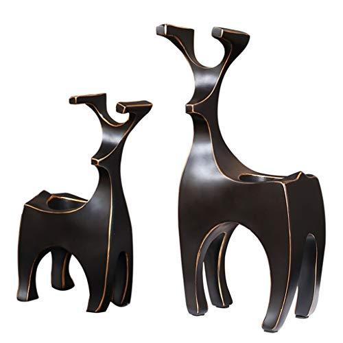 Windlichthalter Candlestick Couple Home Kreative Ornamente Kleiner Kerzenhalter Black Resin Crafts Cabinet Table Decoration (Color : Black, Size : 8 * 14 * 26cm) (Aktuellen Halloween-kostüme Paar)