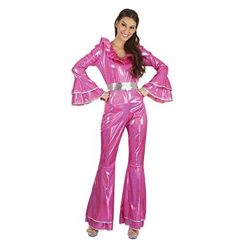 Kostüm Tänzer Pop - Bristol Novelty AF091 Disco Jumpsuit, Damen, Pink, Einheitsgröße
