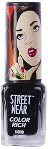 Street Wear Color Rich Liquid Eye Liner, Coal Black, 5ml