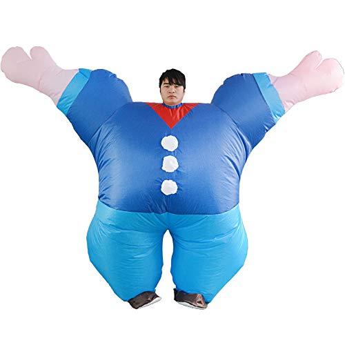 thematys Aufblasbares Matrose Popeye Kostüm - Lustiges Luftkostüm für Erwachsene 165cm-185cm - Perfekt für Karneval, Junggesellenabschied oder Halloween