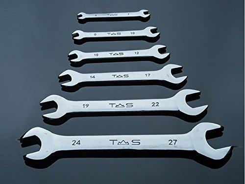 Yunshuo Flare Écrou Clé serre-tube Ensemble de clés à double extrémité ouverte 14 x 17 mm