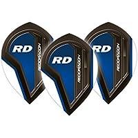Red Dragon Royal Blue Pear Dart Flights - 5 sets pro pack (15 Flights insgesamt) & Red Dragon Checkout Card