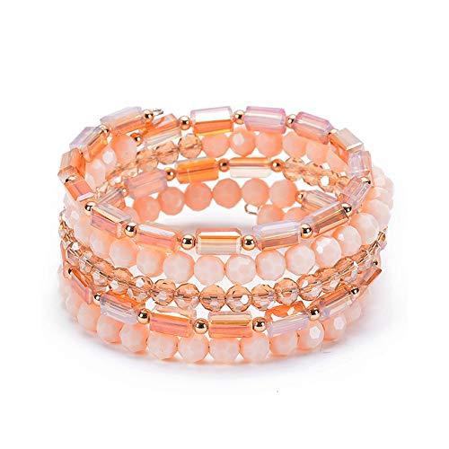 (LCM Damenarmband, Naturkristall, Wickelarmband, Multi-Layer Multi-Piece Balperkristall-Armband, Strahlenschutz, geeignet für Geschäftsgeschenke, Mitarbeiterleistungen, Werbeförderung)