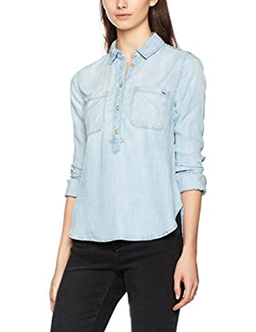 ONLY Damen Bluse Onlmaja LS BF Dnm Shirt Qyt Noos, Blau (Light Blue Denim), 38