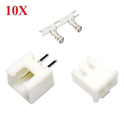LaDicha 10 X Diy Micro 1,25 mm Mâle 2 Broches Connecteur Droit Femelle