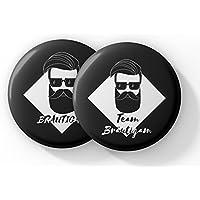 JGA Button Set für Männer im Vintage Style – 12 Coole Buttons für den Bräutigam und seine Crew zur Bachelor Party - JGA Buttons Set Junggesellenabschied