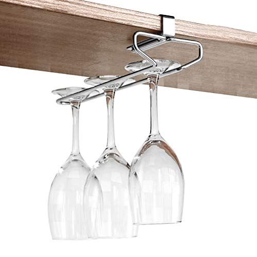 Solamlya Free Nail Upside Down Weinglashalter,Multi-Purpose Cup Edelstahlgestell - Korrosionsbeständige & Rostfrei Leicht Zu Pflegen-a 26x10.5x6.7cm -