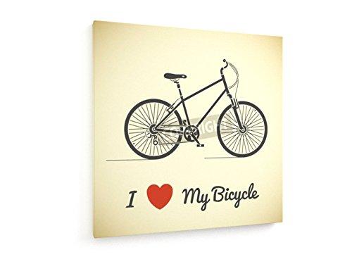 I Love My biciclette - 140x140 cm - weewado - Belle stampe d'arte tela - (Cavalcata Icona)