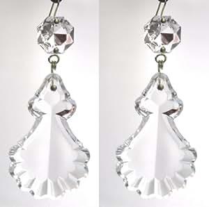 2 p. pampilles en cristal de bohème 50mm + octogon pour lustres - décoration - Marie Thérèse (2)