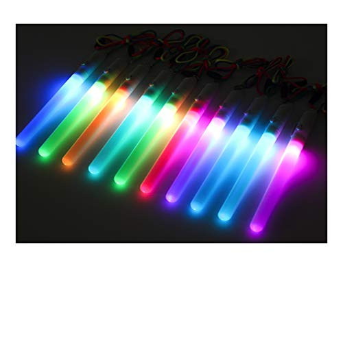 LED Sticks Glow Colour Changing Festival Party Gym Flashing Wands Flashing Gadget (4 x Wands)