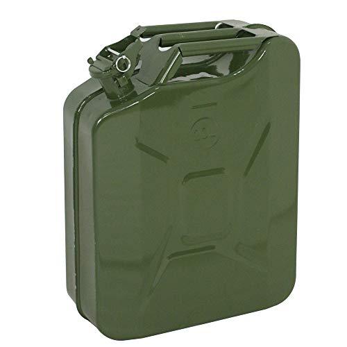 Kimmyer Öl Gas kann 5 Gallonen 20L tragbares Gas Öl Wassereimer Benzin Diesel Lagerbehälter (enthält keinen Ölabscheider) - Metall-Gastank können, LKWs