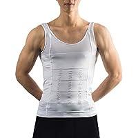 Image Abnehmen Hemd Body Shaper für Männer - Kompression Shirt reduziert Bauch und Brust, für aufrechte Position und maskuline Walking - weiß
