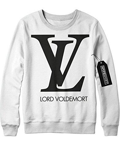 Sweatshirt Lord Voldemort Loui Vuitton Logo Harry Potter C999934 Weiß S (Harry Potter Kostüm Design)