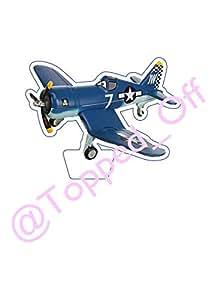 """1 große vorgeschnitten 4.5 """"(11.4cm) hoch Disney Planes - Skipper - Essbare Kuchendeckel Dekoration"""