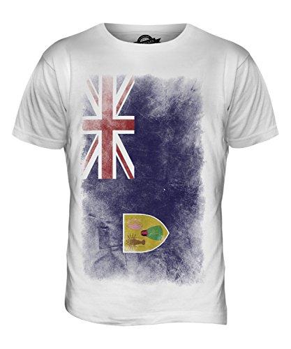CandyMix Turks- Und Caicosinseln Verblichen Flagge Herren T Shirt Weiß