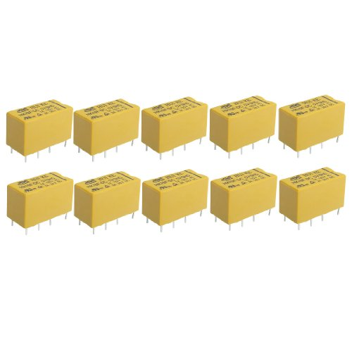 sourcingmap® 10 x DC 5V Coil 125V 1A (30 V, DC, 24V 2A Schaltnetzteil AC 2A/30 V DC Power Relay 8 Pins DPDT HK19F de -