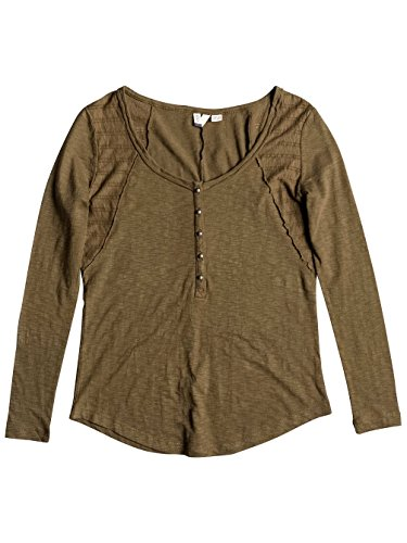 Roxy Damen Here J Knit Top Military Olive