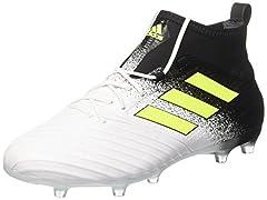 Idea Regalo - adidas Ace 17.2 Fg, Scarpe da Calcio Uomo, Giallo (Footwear White/Solar Yellow/Core Black), 42 EU