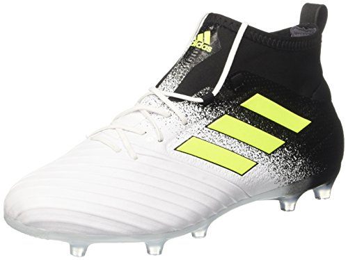 Adidas ace 17.2 fg, scarpe da calcio uomo, giallo (footwear white/solar yellow/core black), 42 eu